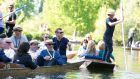 Members of the EY Entrepreneur of the Year Alumni enjoying Punting and Pimms on the Cherwell River. Photograph: Paul Kelly