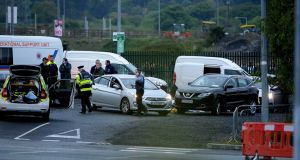 The scene at Cherrywood. Photograph: Cyril Byrne / The Irish Times
