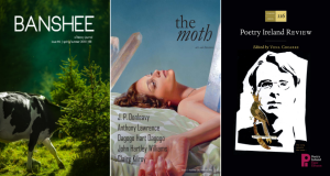 Covers from Banshee, The Moth and Poetry Ireland Review