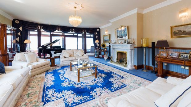 The drawingroom at Bayview House, Carrickbrack Road, Howth, Co Dublin