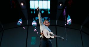 Ed Sheeran performing in the Phoenix Park last week. Photograph: Nick Bradshaw