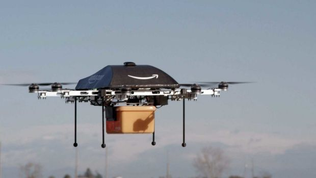 Amazon floated the idea of using drones for door-to-door deliveries in December 2013, and delivered its first package by drone in 2016