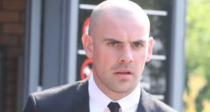Republic of Ireland soccer player Darron Gibson leaves South Tyneside Magistrates' Court. Photograph: Owen Humphreys/PA Wire