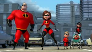 Incredibles 2: Mr Incredible struggles as a stay-at-home dad in this sequel to Pixar's 2004 hit