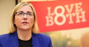 Cora Sherlock, spokeswoman for the LoveBoth campaign, will be debating the Eighth Amendment on RTÉ One's 'Prime Time'  on Tuesday. Photograph: Brian Lawless/PA Wire