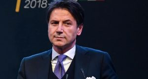 The nascent Italian coalition parties proposed Giuseppe Conte (above), a little-known 53-year-old professor who  hardly any political experience, as prime minister for the alliance.