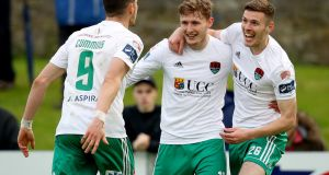 Gary Buckley scored twice in Cork City's win over Limerick. Photograph: Oisin Keniry/Inpho