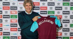 Manuel Pellegrini has been confirmed as the new West Ham United manager, succeeding David Moyes. Photograph: West Ham United FC/West Ham United via Getty Images