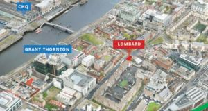 The infill development site on Townsend Street is a short walk from Pearse Street Dart station