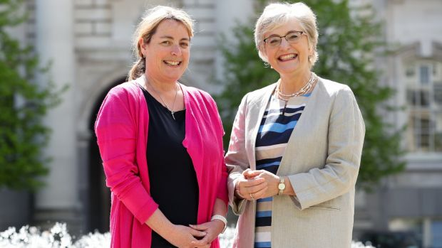 Áine Lynch of the National Parents Council and Minister for Children and Youth Affairs, Dr Katherine Zappone.