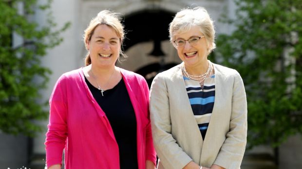 Áine Lynch of the National Parents Council and Minister for Children and Youth Affairs, Katherine Zappone.