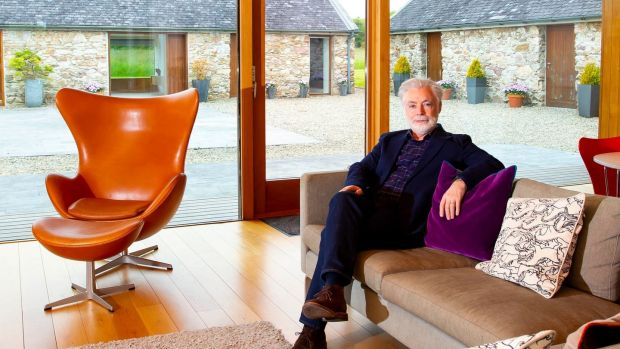 Eoin Colfer inside his Ballymorris House, which is on the market for €1.65 million. Photograph: Mary Browne