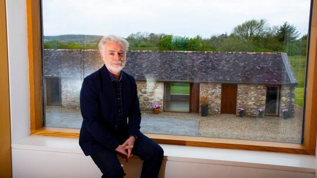 Author Eoin Colfer in his house in Wexford where he wrote 'Five Artemis Fowl' novels, two musicals, a 'Hitchhiker's Guide to the Galaxy' sequel and five graphic novels. Photograph: Mary Browne