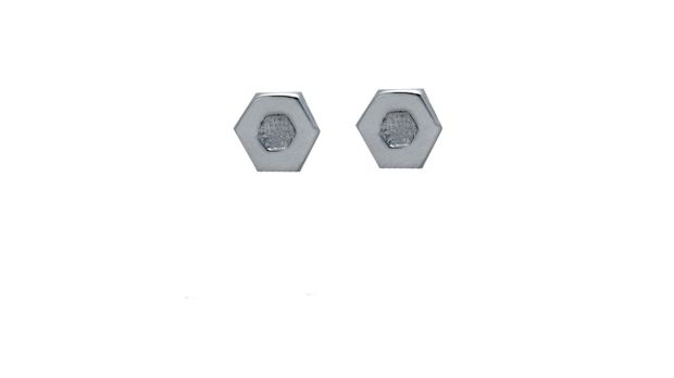 Hexagon earrings from the he Leah Hewson for Edge Only (EOxLH) collection.