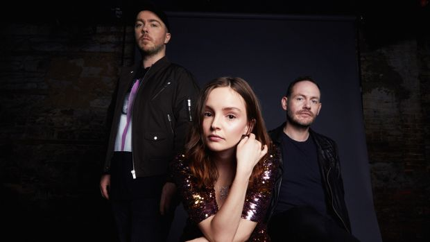 Lauren Mayberry, Iain Cook and Martin Doherty make up the Glaswegian band