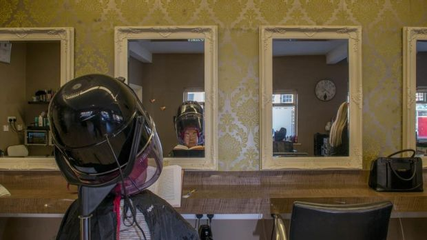 Hairdressers, Bunclody. Photograph: Paul Tierney