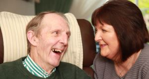Paul Carroll with his wife Lillian: 'My wife takes care of me so well, and she never complains'