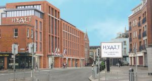 The 234-bedroom, four-star Hyatt Centric hotel will be situated by Fallon's pub at entrance to the Coombe area.