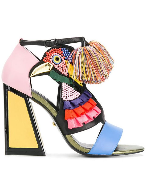Aya - flouncy colourful sandals by Kat Maconie £343 (€392), farfetch.com