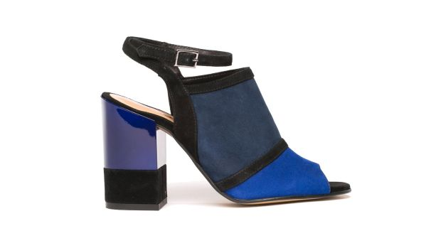Venice - suede and leather block heel €150 from Buffalo We are Shoelab