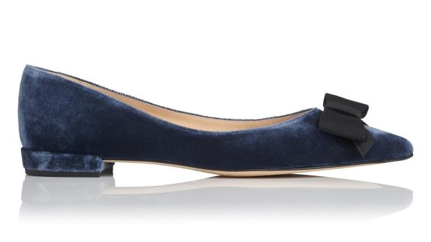 Sammy - powder blue black velvet €240, L K Bennett
