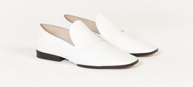 Elma white leather loafers from Finery £119 (€136)