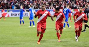 Jefferson Farfan will carry the hopes of Peru along with captain Paulo Guerrero. Photograph: Steven Ryan/Getty