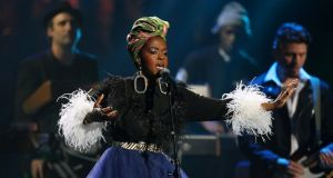 Lauryn Hill performs on stage in Ohio in 2018. Photograph: Aaron Josefczyk/Reuters