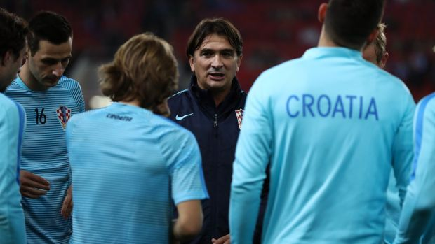 Croatia manager Zlatko Dalic. Photograph: Catherine Ivill/Getty