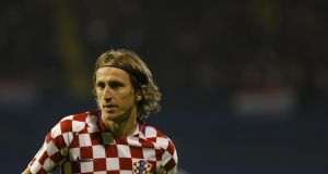 Luka Modric will be at the heart of Croatia's midfield in Russia. Photograph: Srdjan Stevanovic/Getty