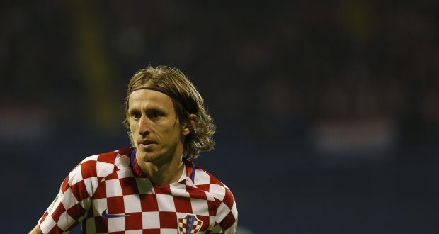 Luka Modric will be at the heart of Croatia s midfield in Russia.  Photograph  Srdjan f8f88ae9b
