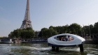 Flying water taxi makes a splash in Paris