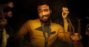 Donald Glover as pan-sexual planetary pirate Lando Calrissian in Solo: A Star Wars Story