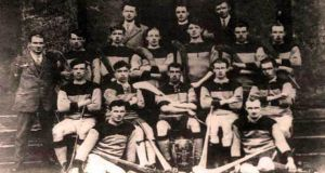 Galway's All-Ireland winning team of 1923. Back row: Jack Berry, Paddy Hurney, Berney Gibbs, Mick Dervan, Dick Morrissy, 'Staff' Garvey, Jim Power. Front row: Andy Kelly, Jim Morris, Mick Kenny (capt), Martin King, Tom Flenning. Seated: Leonard McGrath, Ignatius Harney. Photograph: Ray Ryan