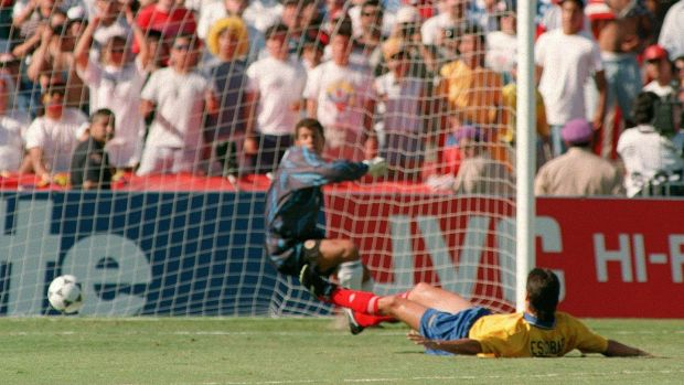 Andres Escobar's own goal in 1994 ultimately cost him his life. Photo: Romeo Gacad/Getty Images