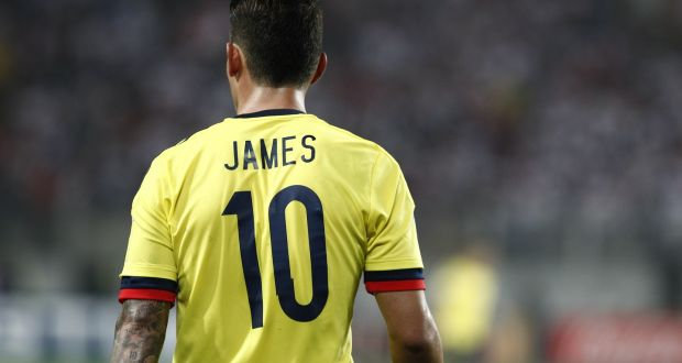 new style c1277 fa17a Group H: Colombia hoping for James heroics again
