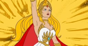 She-Ra, a warrior person from the gender-essentialising world of Eternia. She had a tautologically monikered brother, He-Man
