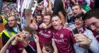 "Joe Canning and Galway supporters celebrated in Croke Park. ""Sick of hearing about Galway. Sick of looking at them at the All Stars last year. Sick of the image of David Burke lifting the cup . . ."" Photograph:  Inpho"