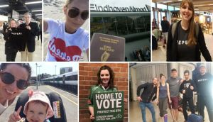 From May 23rd to 3pm on May 24th, #hometovote was mentioned 43,096 times on social media.