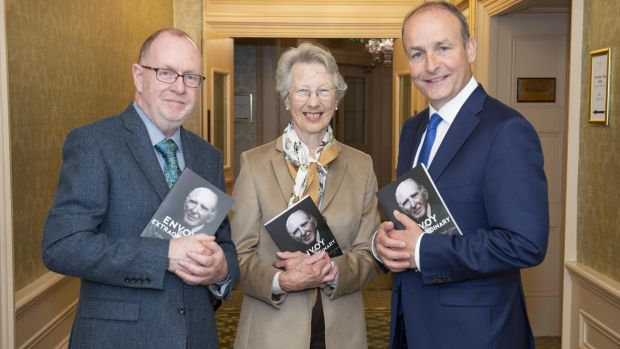At the launch of Envoy Extraordinary: Professor Smiddy of Cork at the Imperial Hotel in Cork last week were Dr Richard Boyle, of the IPA, author Eda Sagarra, and Micheál Martin, leader of Fianna Fáil and guest of honour. Photograph: Gerard McCarthy