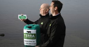 Tom and Padraig Hennessy of Terra Liquid Minerals in Kildare, which won the 2018 National Enterprise Award.  Photograph: Martina Regan