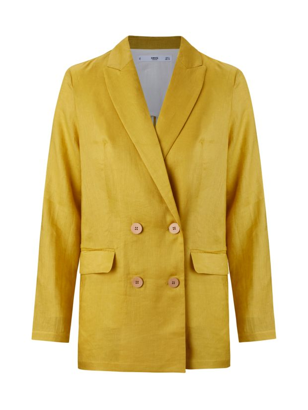 Try a flourish of brightness like a colour-pop blazer, like this one from Mango, €69.99.