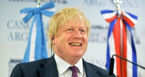 British foreign secretary Boris Johnson, who took a phone call from two Russian pranksters, one of whom posed as the prime minister of Armenia. Photograph: Pablo E Piovano/Bloomberg