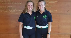 Eliza O'Reilly and Gill McGirr, who are set to compete at the British National Schools Championships this weekend.