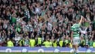 Celtic captain Scott Brown receives applause from the Celtic fans as he walks from the pitch at Ibrox Stadium last month. Photograph: Mark Runnacles/Getty Images