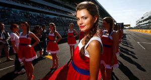 "Russia want to bring back their grid girls, because they are ""the most beautiful"". Photograph: Getty Images"