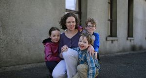 Dr Siobhán Donohue, a GP from Bray, Co Wicklow, with  her children Aoife, Ciarán, and Joey. File photograph: Nick Bradshaw.