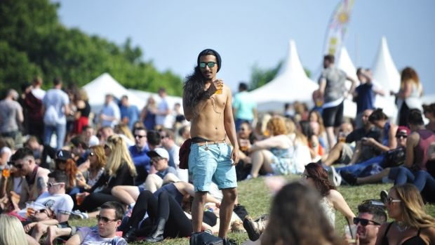 Revellers at last year's Forbidden Fruit Festival in the RHK. Photograph: Aidan Crawley
