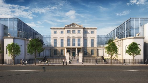 An Bord Pleanala granted permission for the conversion of Aldborough House into an office development, but ordered the top floor level of the glazed links between the buildings and be omitted