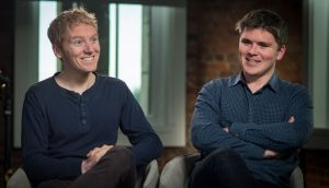"Stripe founders Patrick and John Collison. Lobbying returns for January-April show John Collison met Taoiseach Leo Varadkar ""to discuss technology policy"". Photograph: David Paul Morris/Bloomberg/Getty Images"